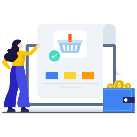 Purchase From E-wallet Illustration