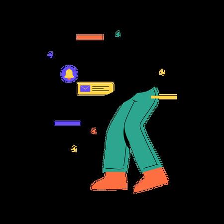 Push notification Illustration