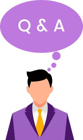 Q and A Illustration