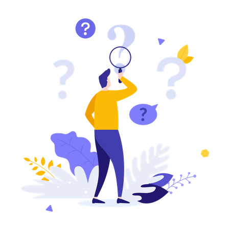 Q And A Service Illustration