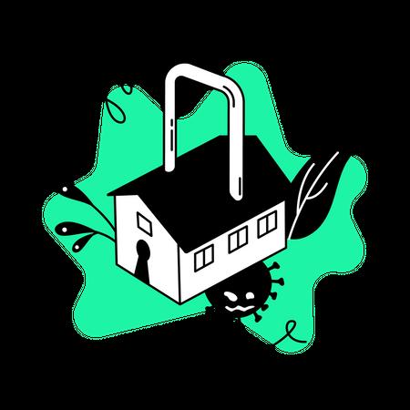 Quarantine at home Illustration