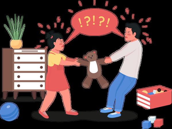 Quarreling children Illustration