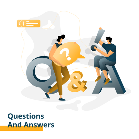 Questions and Answers Illustration
