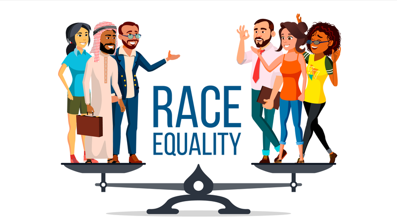 Race Equality Vector Illustration