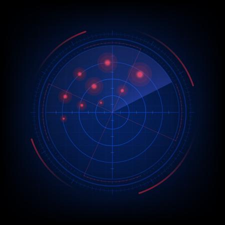 Radar screen Illustration