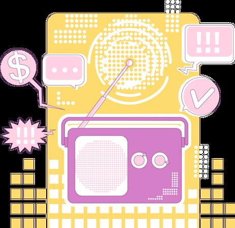 Radio marketing Illustration