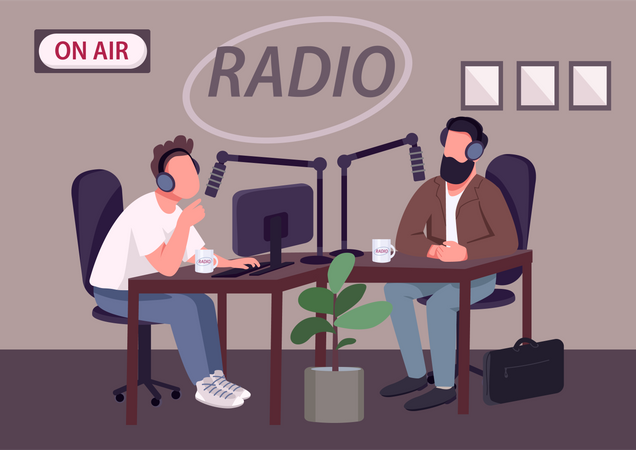 Radio talk show show Illustration