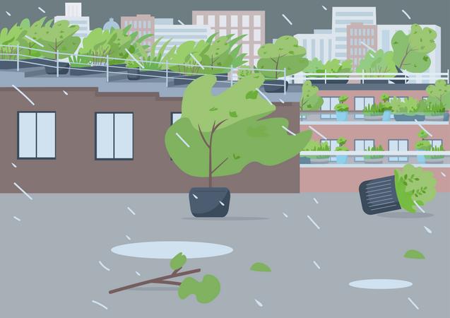 Rainstorm Illustration