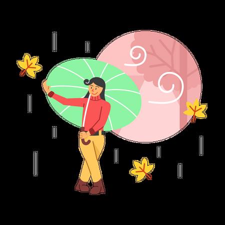 Rainy season Illustration