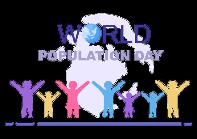 Raising Population Issue Illustration