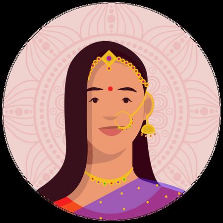 Rajasthani female Illustration