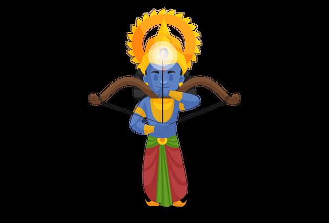 Ram preparing for fight Illustration