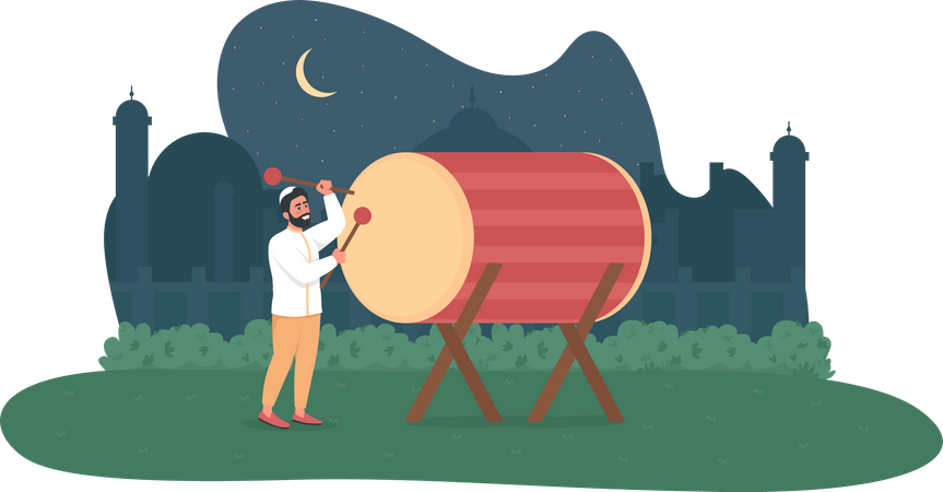 Ramadan kareem celebration Illustration