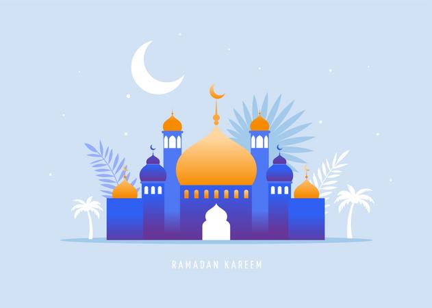 Ramadan Kareem, Happy Ramadan Illustration