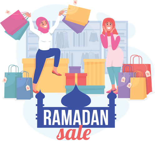 Ramadan sale Illustration