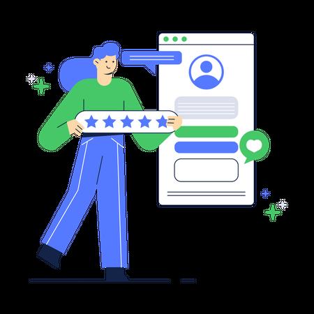 Rating User Profile Illustration