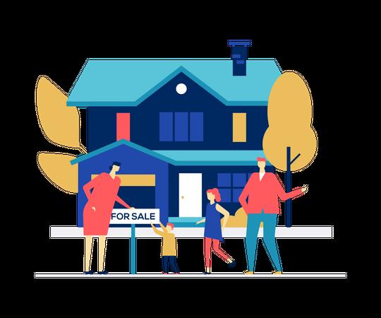 Real estate agency Illustration