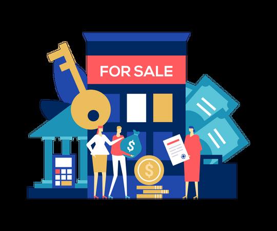 Real estate deal Illustration