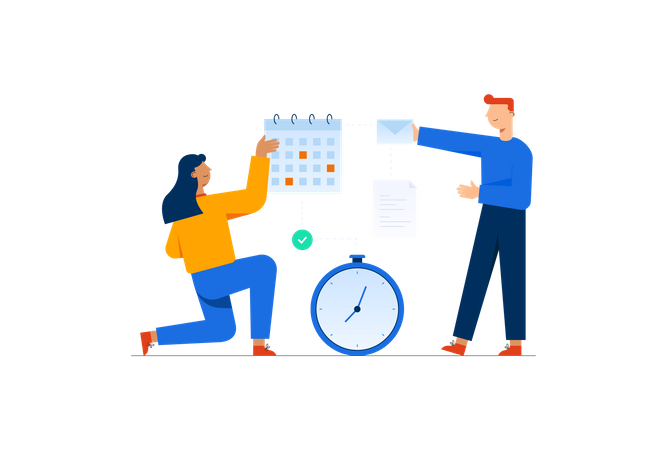 Real Time Schedule Illustration