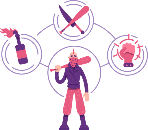 Rebel archetype Illustration