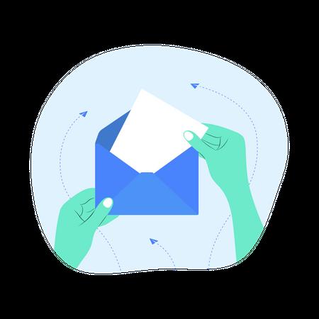 Receive Letter Illustration