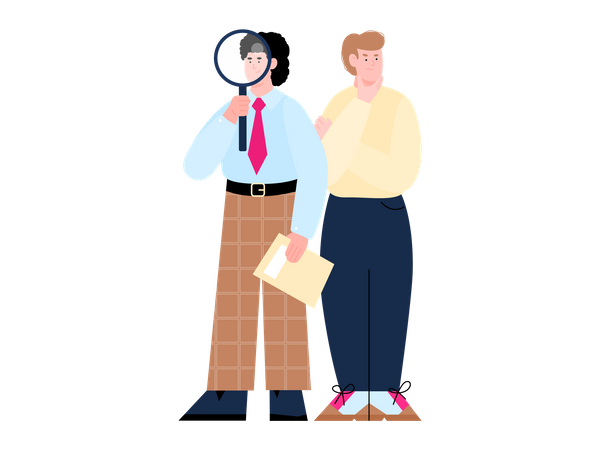 Recruiting and hiring managers finding candidates Illustration