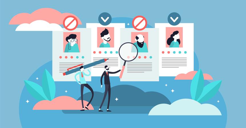Recruitment ageism Illustration