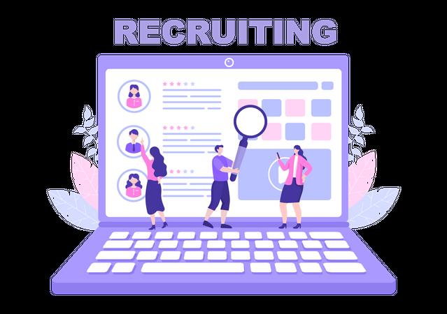 Recruitment process Illustration