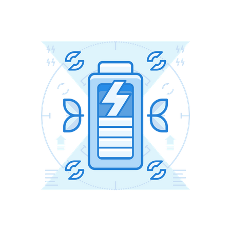 Recycle Battery Illustration