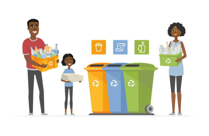 Recycling concept Illustration