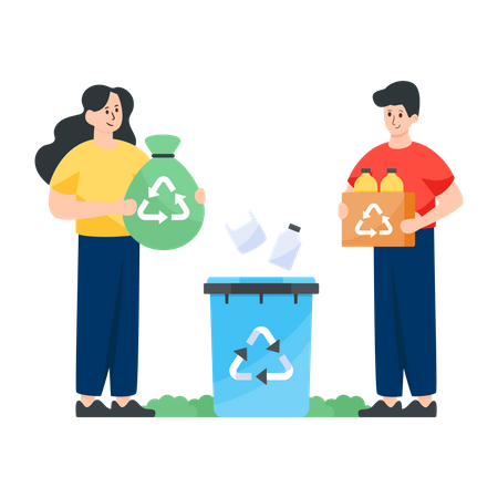 Recycling Waste Illustration