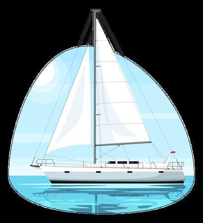 Regatta ship Illustration