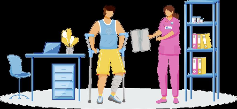 Rehabilitation at hospital Illustration