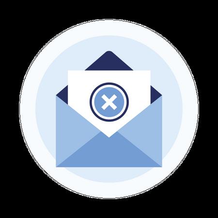 Reject email Illustration