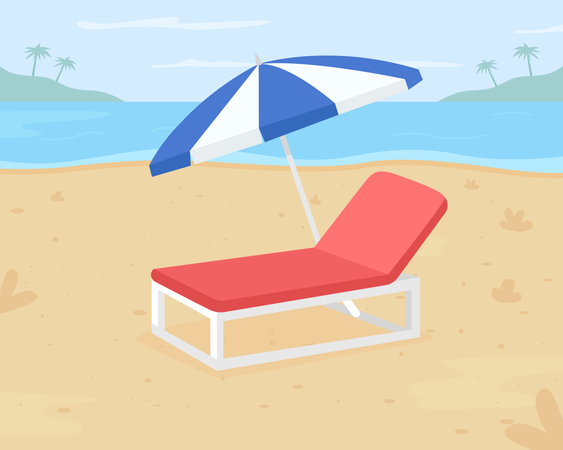 Relaxing beach vacation Illustration