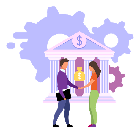 Reliable banking service Illustration