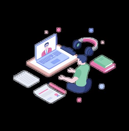 Remote training Illustration