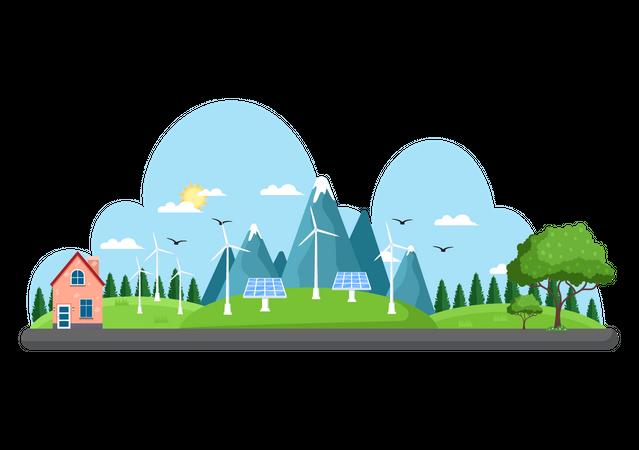 Renewable Energy Supply Illustration