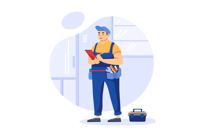 Repairman Illustration
