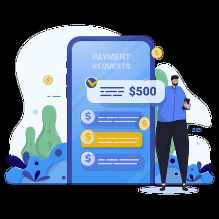 Request payment Illustration