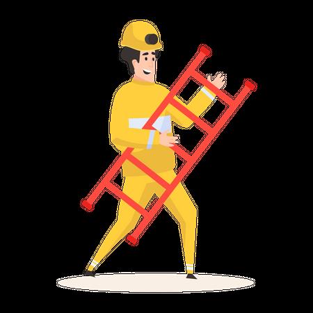 Rescue firefighter Illustration