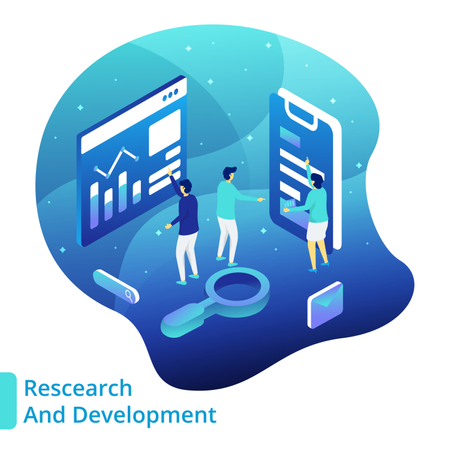 Research And Development Illustration