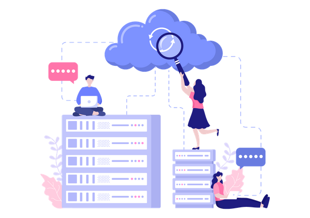Research on cloud data Illustration