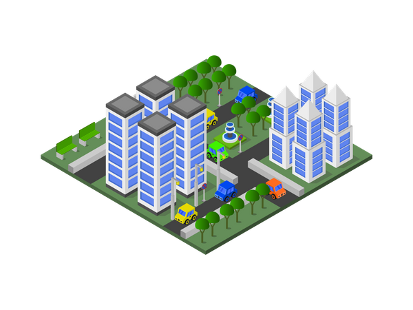 Residential building Illustration