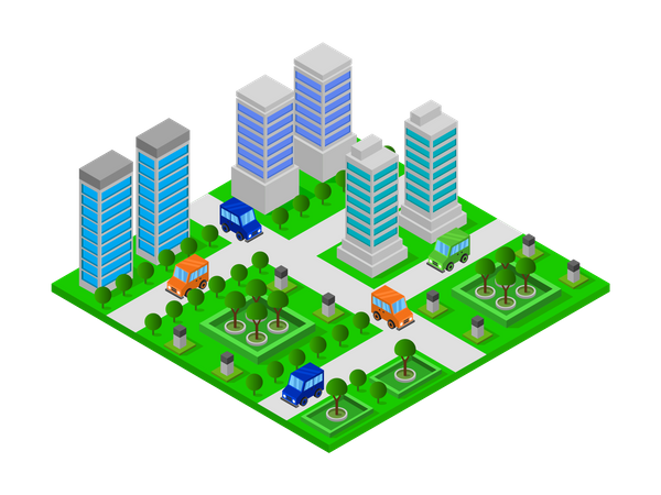 Residential towers Illustration
