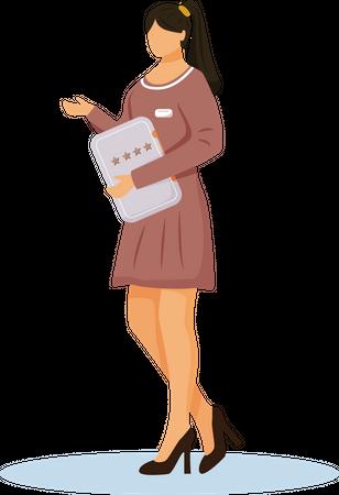 Resort manager with feedback form Illustration