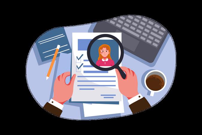 Resume assessment Illustration