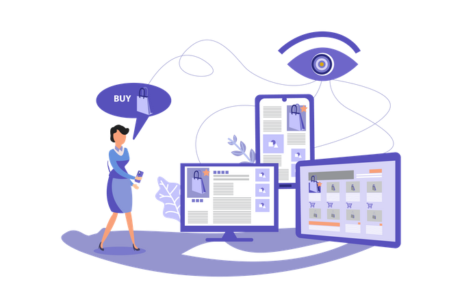 Retarget Marketing Illustration