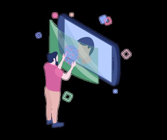 Retina scanner Illustration