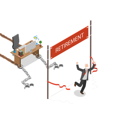 Retirement Illustration